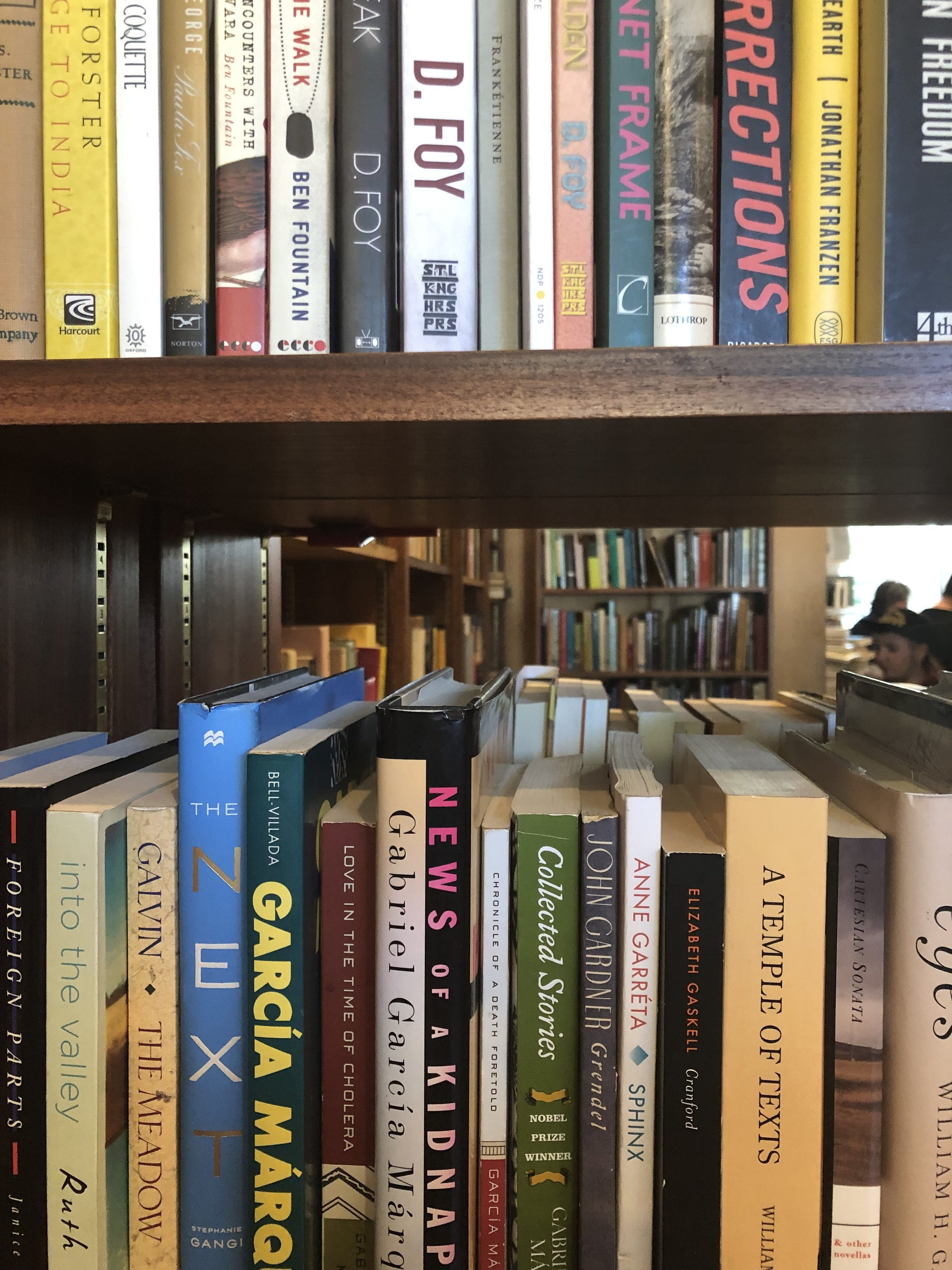 bonus pic of the kind of shelves you'll find in every romantic comedy bookstore. your love interest could be standing on the other side!