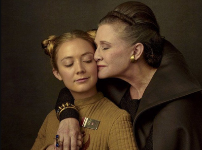 Carrie Fisher and her daughter, Billie Lourd