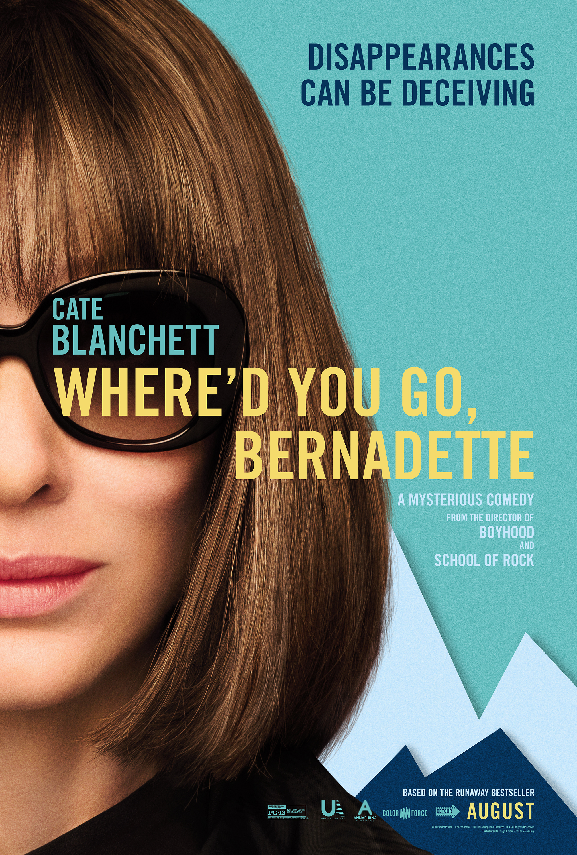 "Othersode #31: Laurence Fishburne is an E-mail / Where'd You Go Bernadette & Interview w/Kate Davies - Go missing with the #BookSquad as we discuss the new movie Where'd You Go Bernadette?, based on the novel by Maria Semple. We talk about how the epistolary form translates on screen, the depiction of a few female characters, and the thing everyone is wondering: What is Bernadette's deal anyway? In the second half of this #othersode, Emily interviews Kate Davies, author of the new novel In at the Deep End, which has been described as a ""lesbian Bridget Jones."" Then we get into listener feedback on The Lion King (including the politics of asking for refunds at movies) and what's on the #BookSquadBlog! Read along with us for our next #bookpisode on The Memory Policy by Yoko Ogawa (September 9) and for our next #othersode on We Have Always Lived in the Castle by Shirley Jackson, featuring special guests Lisa Kroger and Melanie Anderson (authors of Monster, She Wrote and co-hosts of podcast Know Fear) on September 23."