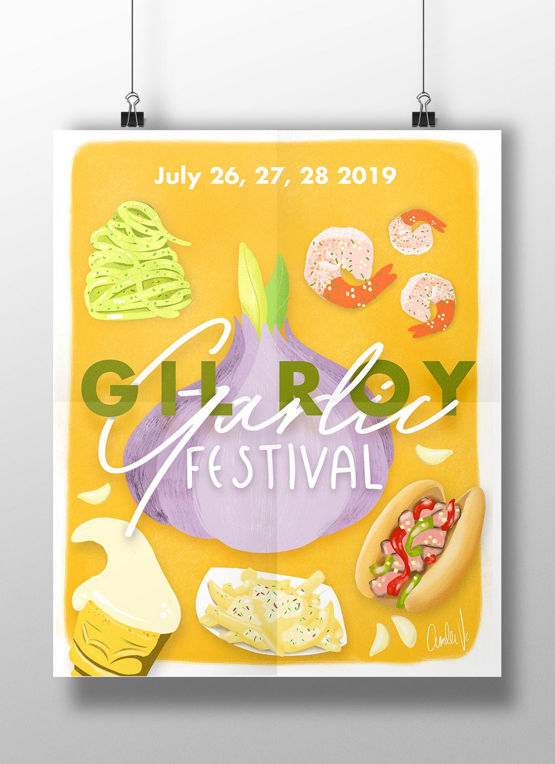 Gilroy Garlic Festival Poster Artwork
