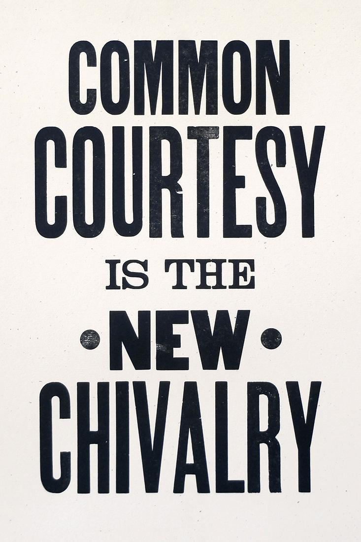Courtesy Over Chivalry