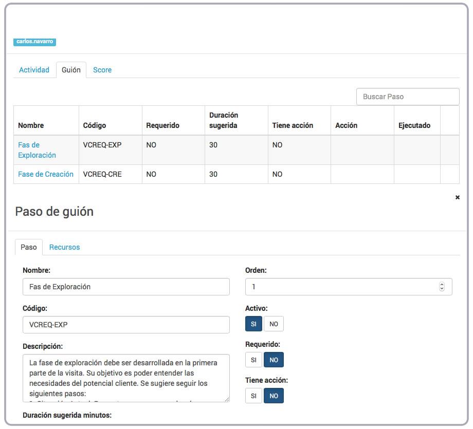 Guion y Paso Actividad VisualSale CRM.jpg