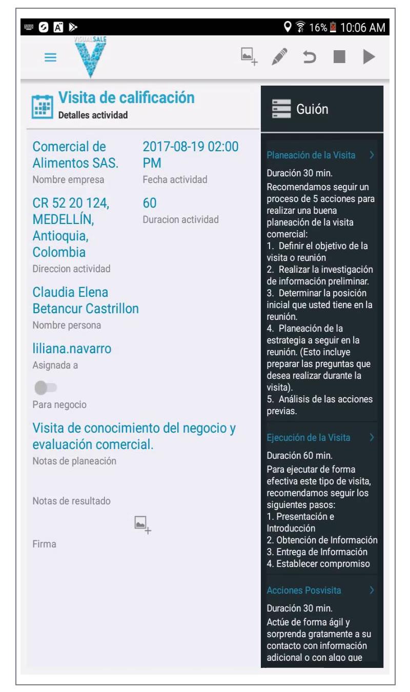 Completar Visita Preventa VisualSale CRM.jpg