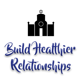 "[Image]A Synagogue house of worship building in black, followed by purple text that reads ""Build Healthier Relationships."" Interfaith Bridge Counseling offers low-cost counseling to tweens & teens in Denver, CO."