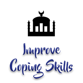 "[Image]A Mosque house of worship building in black, followed by purple text that reads ""Improve Coping Skills."" Interfaith Bridge Counseling offers low-cost counseling to tweens & teens in Denver, CO."
