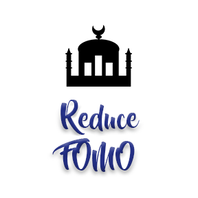 "[Image]A Mosque house of worship building in black, followed by purple text that reads ""Reduce FOMO."" Interfaith Bridge Counseling offers low-cost counseling to twenty-somethings in Denver, CO."