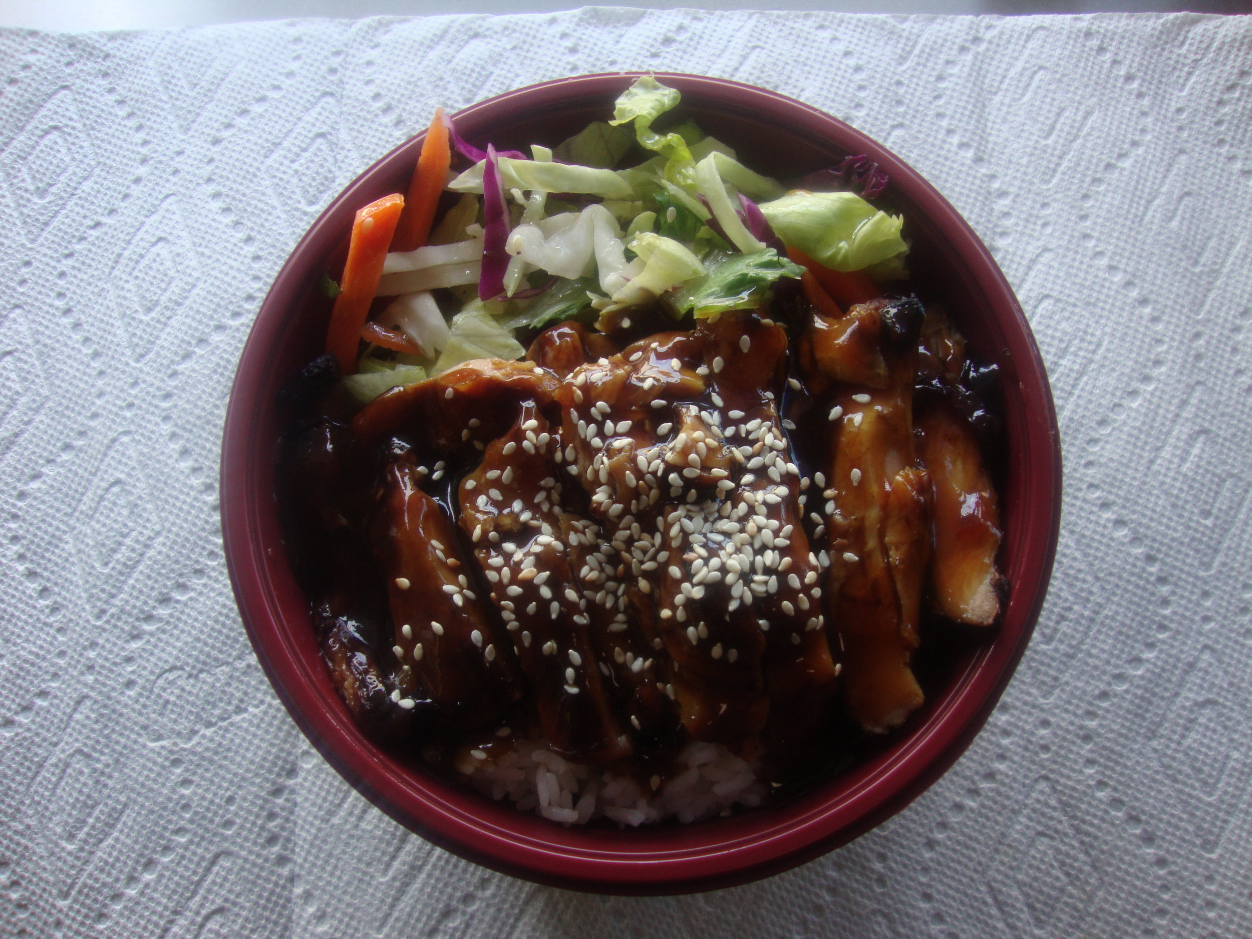 Chicken Thigh Teriyaki Bowl