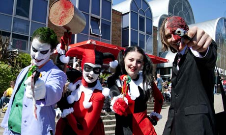 Visitors to the 2011 Kapow! convention in London. Photograph: Gavin Rodgers/Rex Features