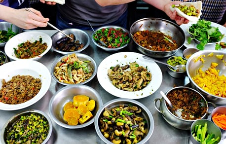 Dishes from Audrey's cooking class. Photograph: Lap-Fai Lee