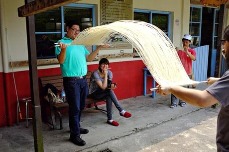 Hsu Ren Ping's noodle factory. Photograph: Lap-fai Lee