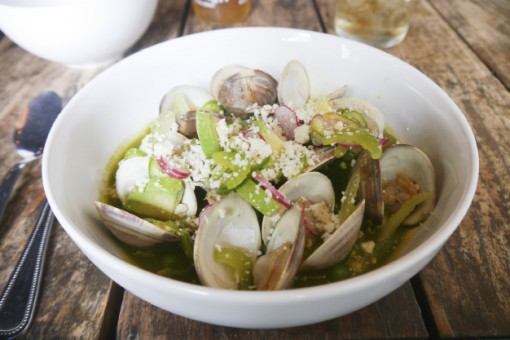 Mexican-style clams at 2 Boroughs Larder. Image: Audrey Gillan.