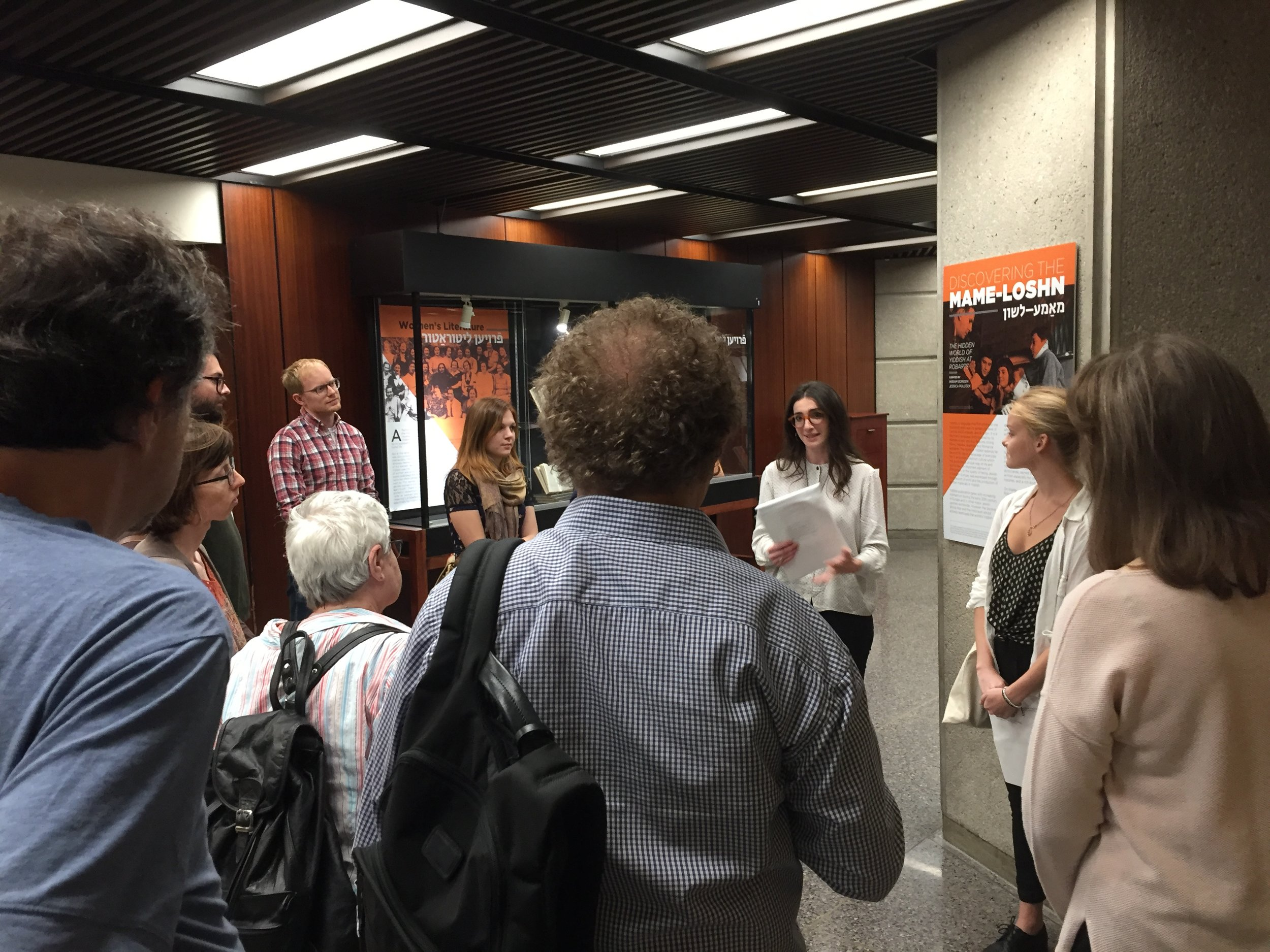 Robarts exhibit tour - Department of Germanic Languages and Literatures'guided tour of the exhibit