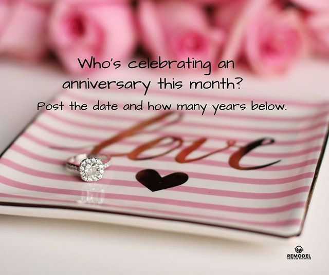 Happy September! Who's celebrating an anniversary this month?  #remodelministries #remodelmarriageministries #marriageunderconstruction #marriedontherock #love #marriage #relationshipgoals