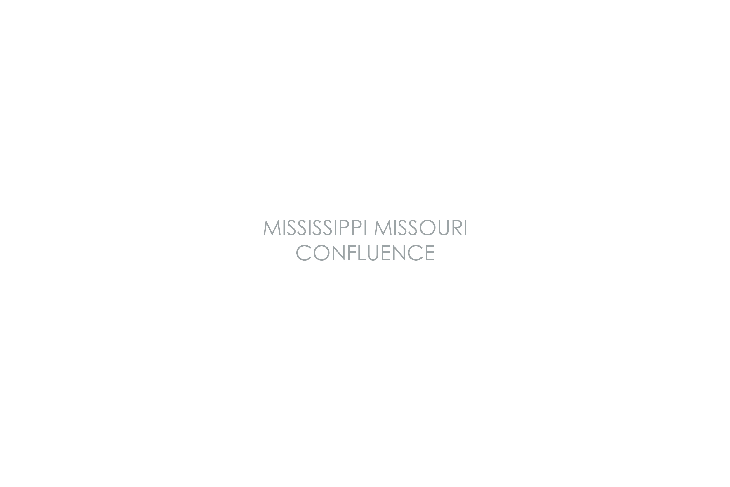 MISSISSIPPI AND MISSOURI RIVER CONFLUENCE