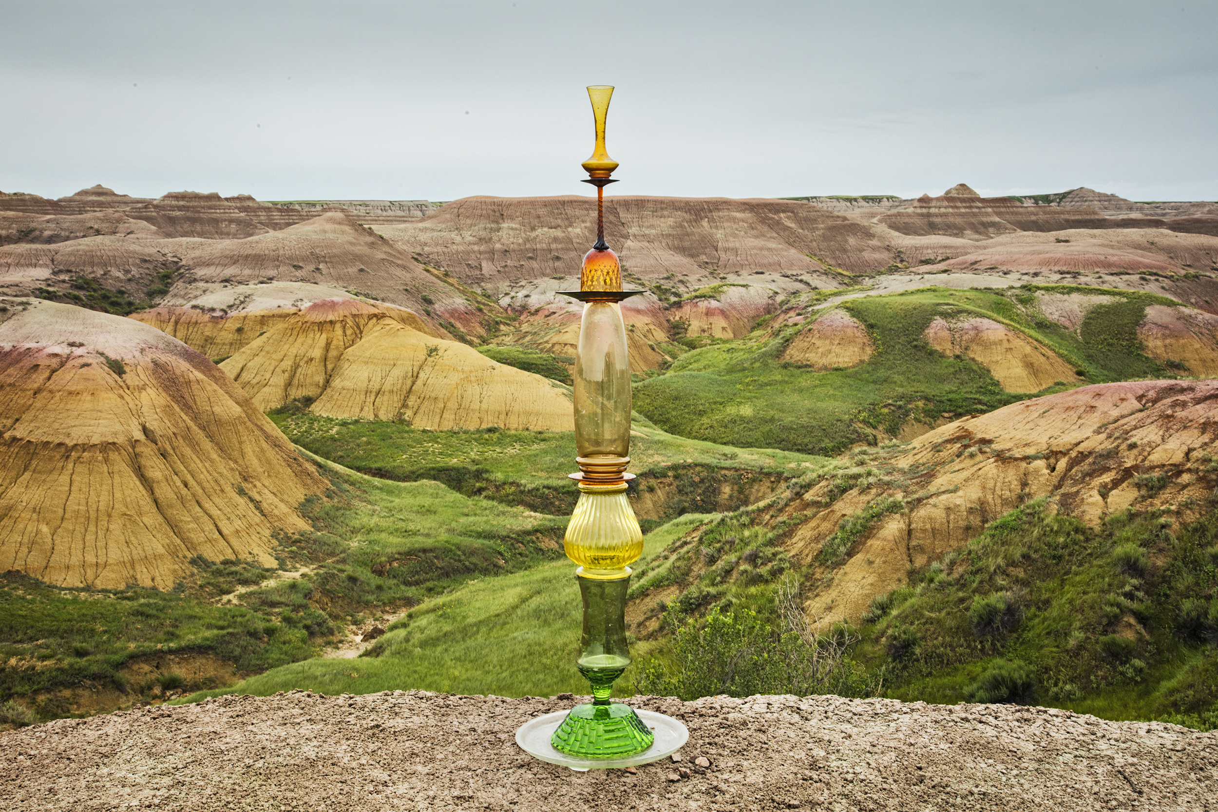 Badlands Green-Gold Cairn