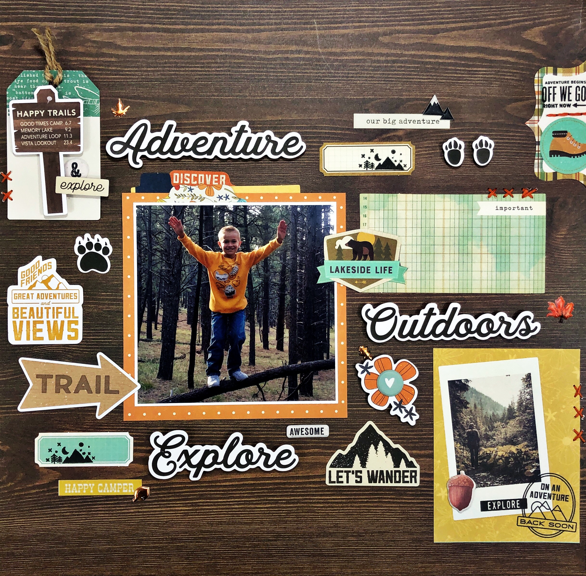 scrapbooking layout gallery wall