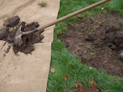 5. Dig the hole - The best way to dig a hole is by starting at the center and working outward in small