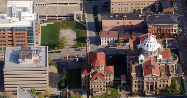 Washington County courthouse and Courthouse Square in the heart of Washington, Pa.