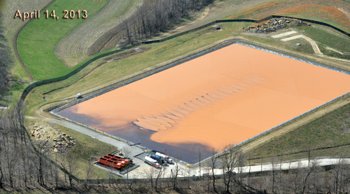 Worstell Impoundment Dam in Cecil Township, Washington County, Pennsylvania where fracking waste fluids were stored and evaporated. A cancer cluster among younger individuals has appeared in that township and Canon-McMillan school district, with a rare cancer known as Ewing sarcoma and other cancers.
