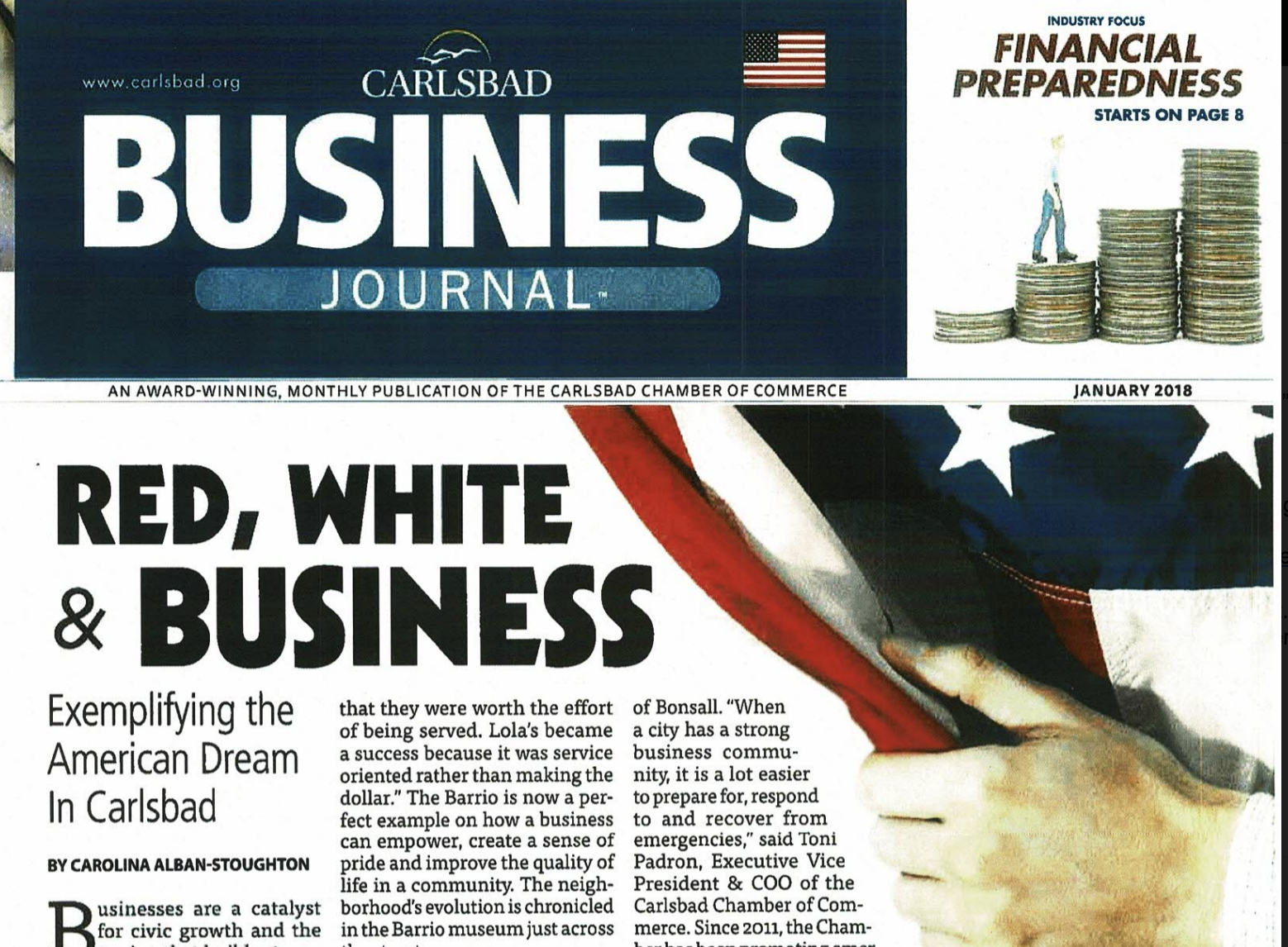 Flagkeepers Carlsbad Business Journal January