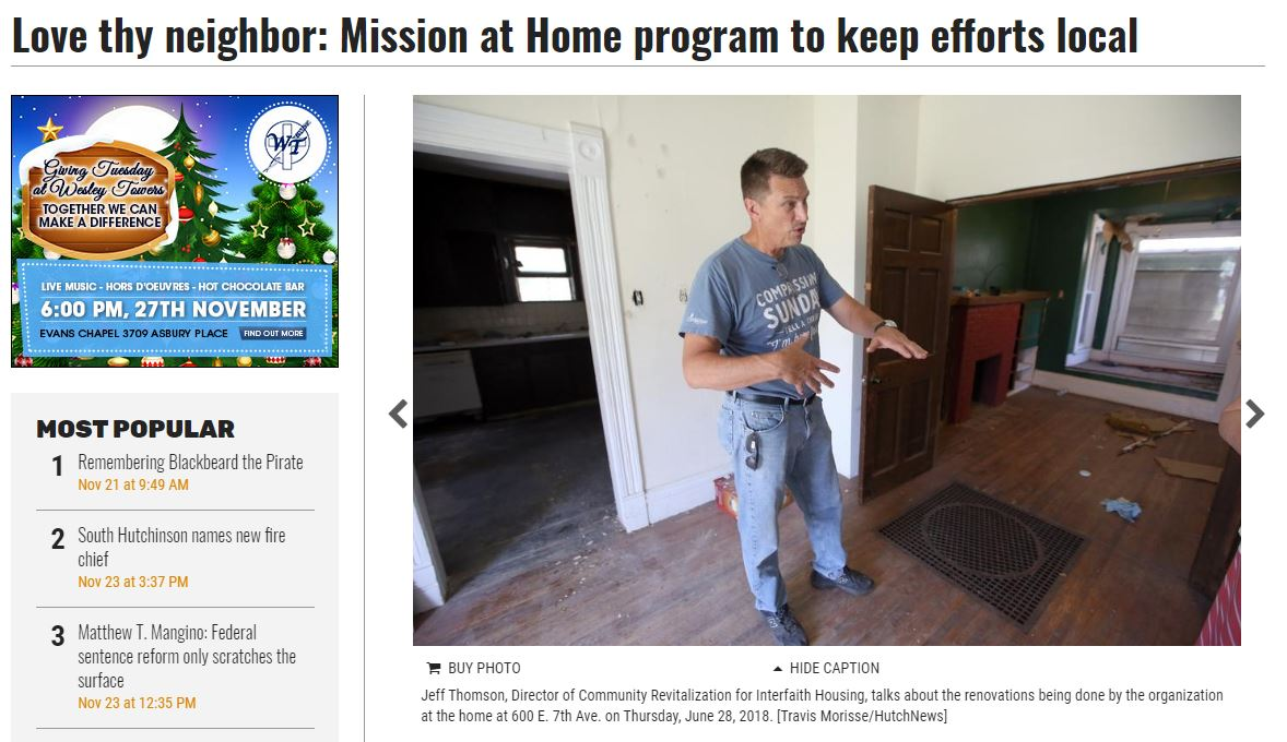When the effort really kicked off, The Hutchinson News did a story on the effort. Read it  here.
