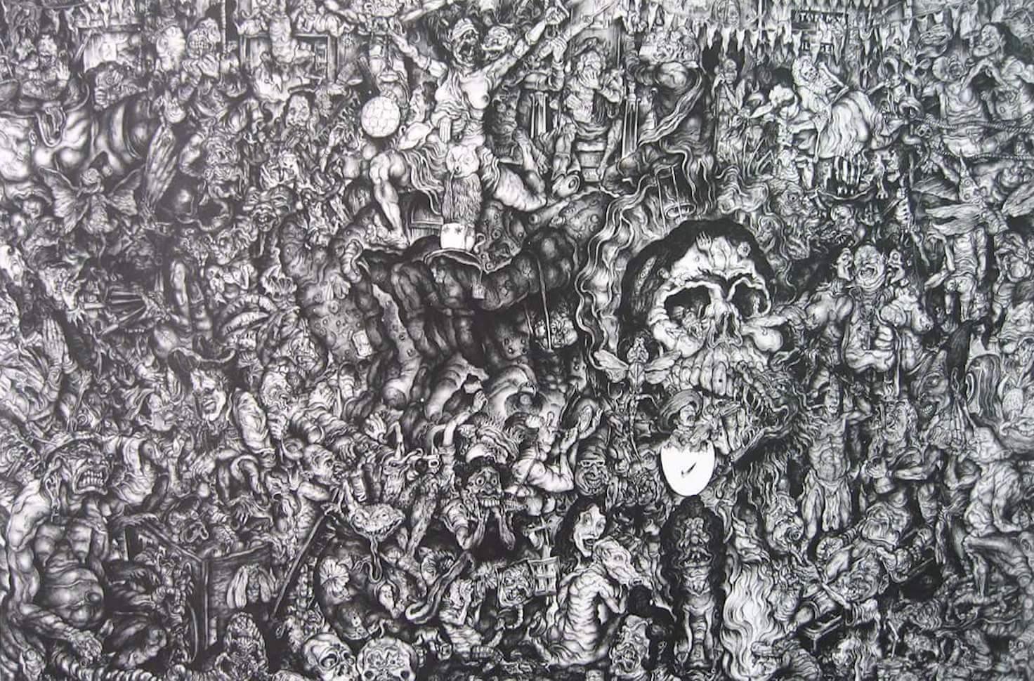 1- Oscar Camilo de las Flores, Homenaje a Posada, litografia, 81X107cm.jpeg