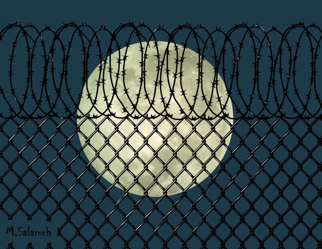 Moon of Manus by Mahmoud Salameh (Syria, Palestinian)