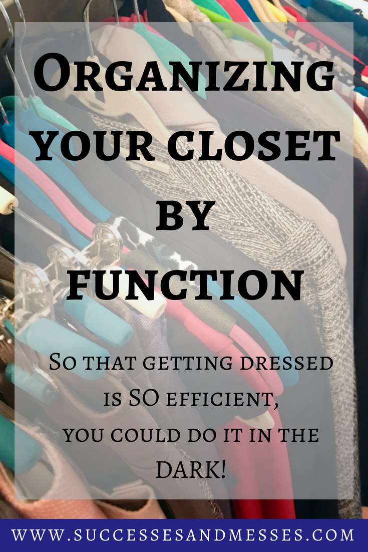 Organizing your closet by function