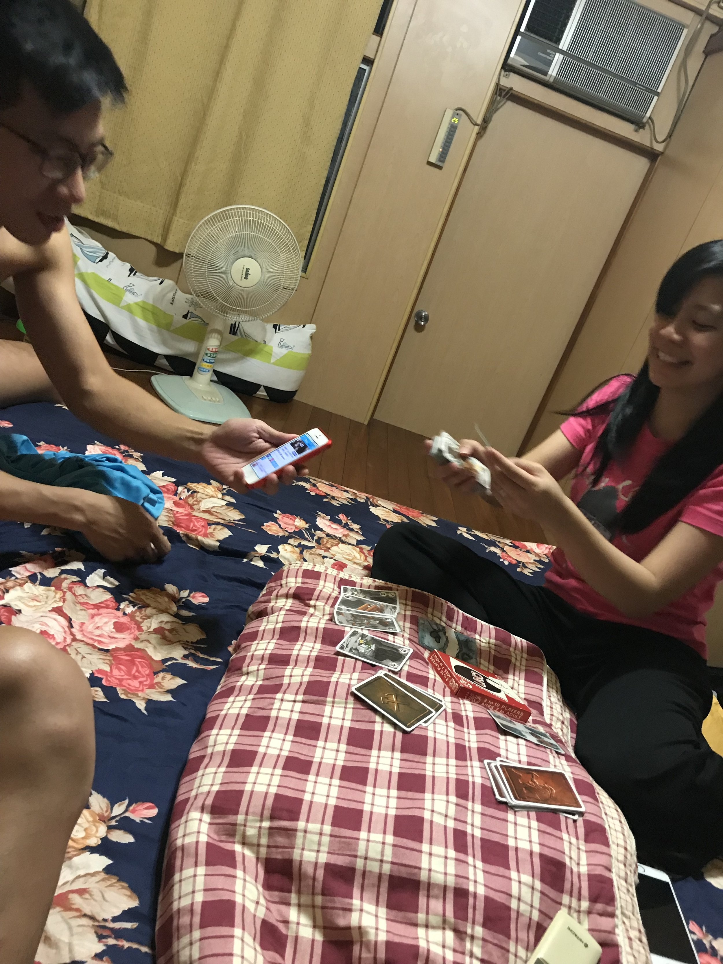 Late night cards