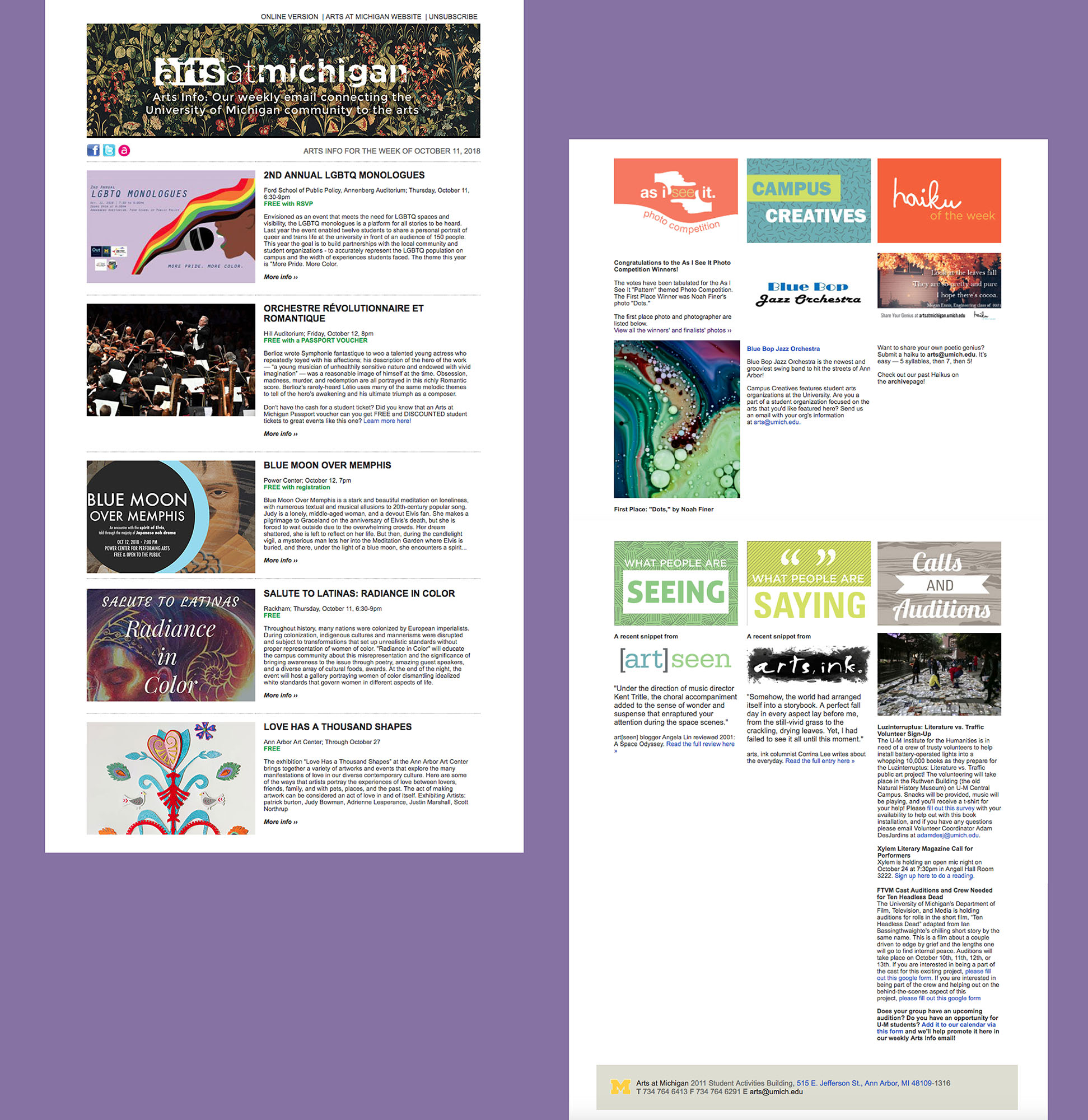 Select Email Newsletter Layout