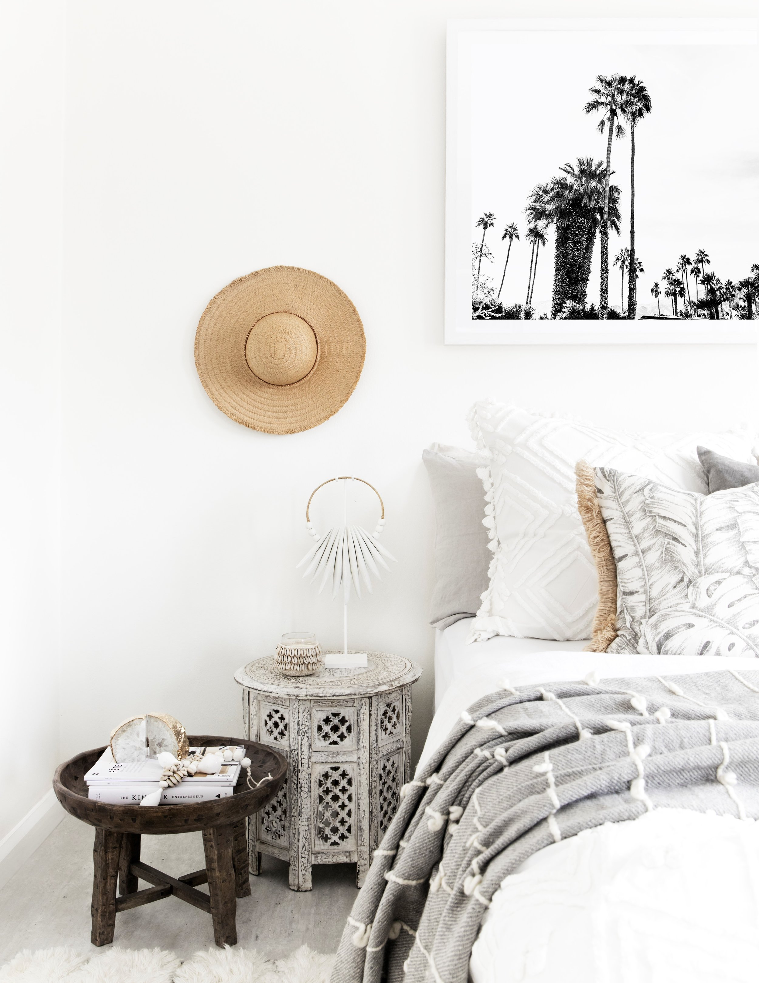 Boho bliss with our Cascade Mini, Cowrie Garland + Agate bookends. Photography by The Palm Co