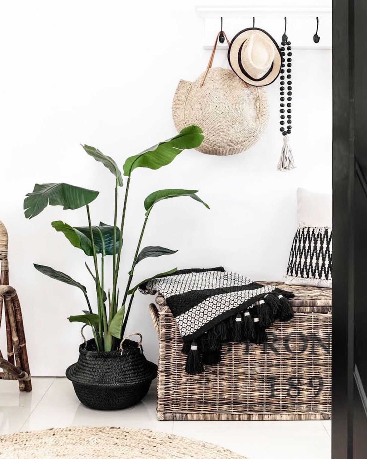 Lane Interiors featuring our Black clay beads + taupe rope tassel. Photography by The Palm Co