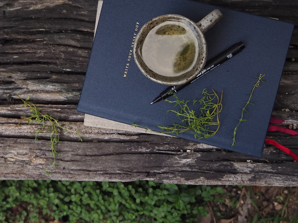 Ellie Beck book and tea cup on wooden ledge.jpeg