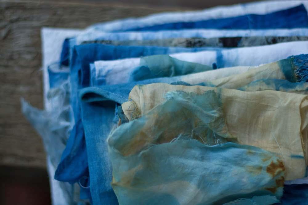 Ellie Beck Petalplum indigo dyed fabric stack web size.jpg