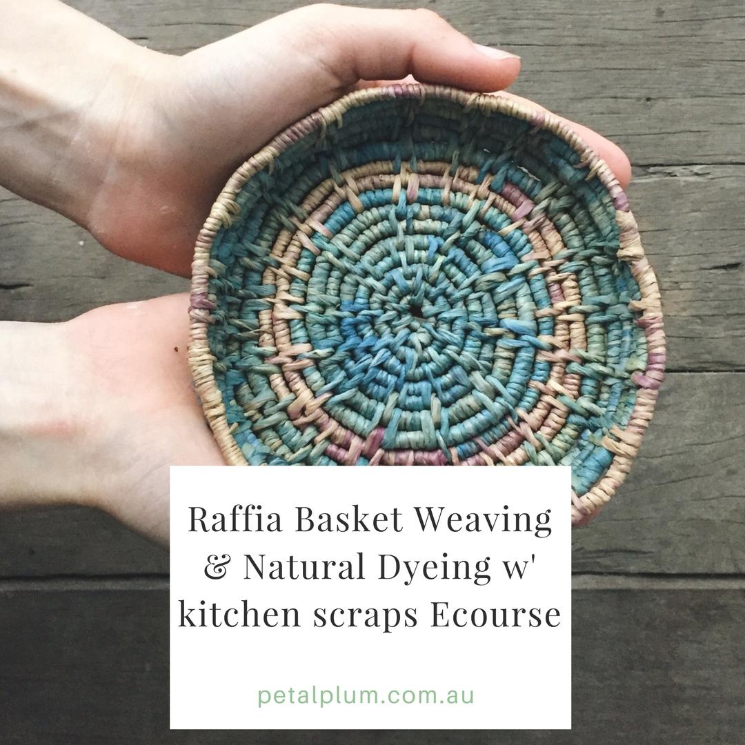 Raffia Basket Weaving : $45AU -