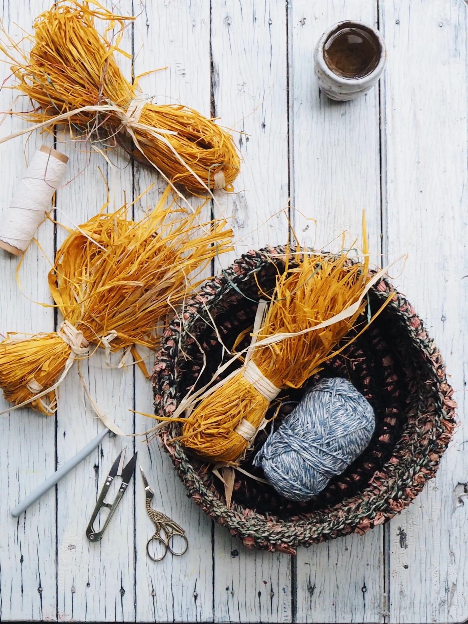 Petalplum by Ellie Beck - Free tutorial how to make a raffia crochet basket.jpg