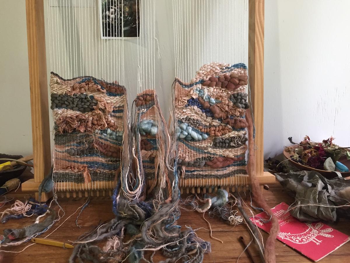 Ellie Beck Petalplum Seasons of our Creative Lives Loom Weaving