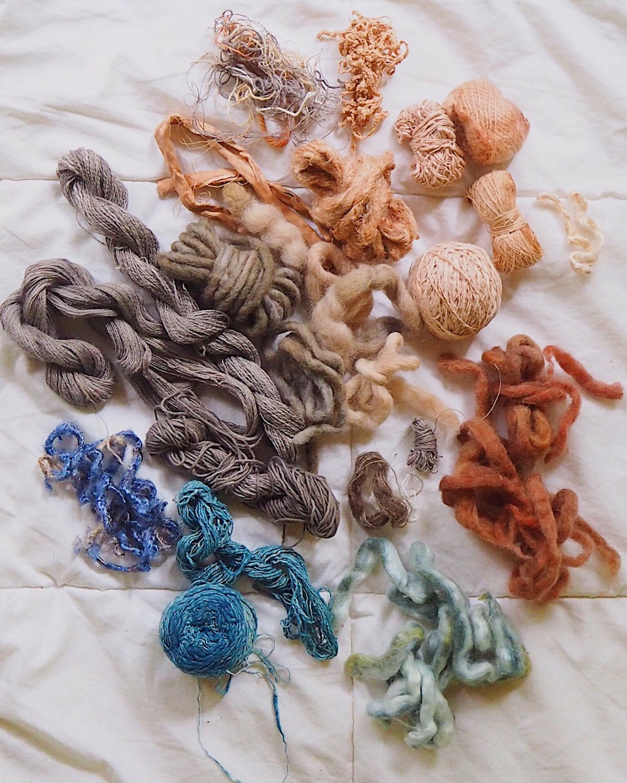 Ellie Beck Petalplum naturally dyed yarns for weaving.JPG