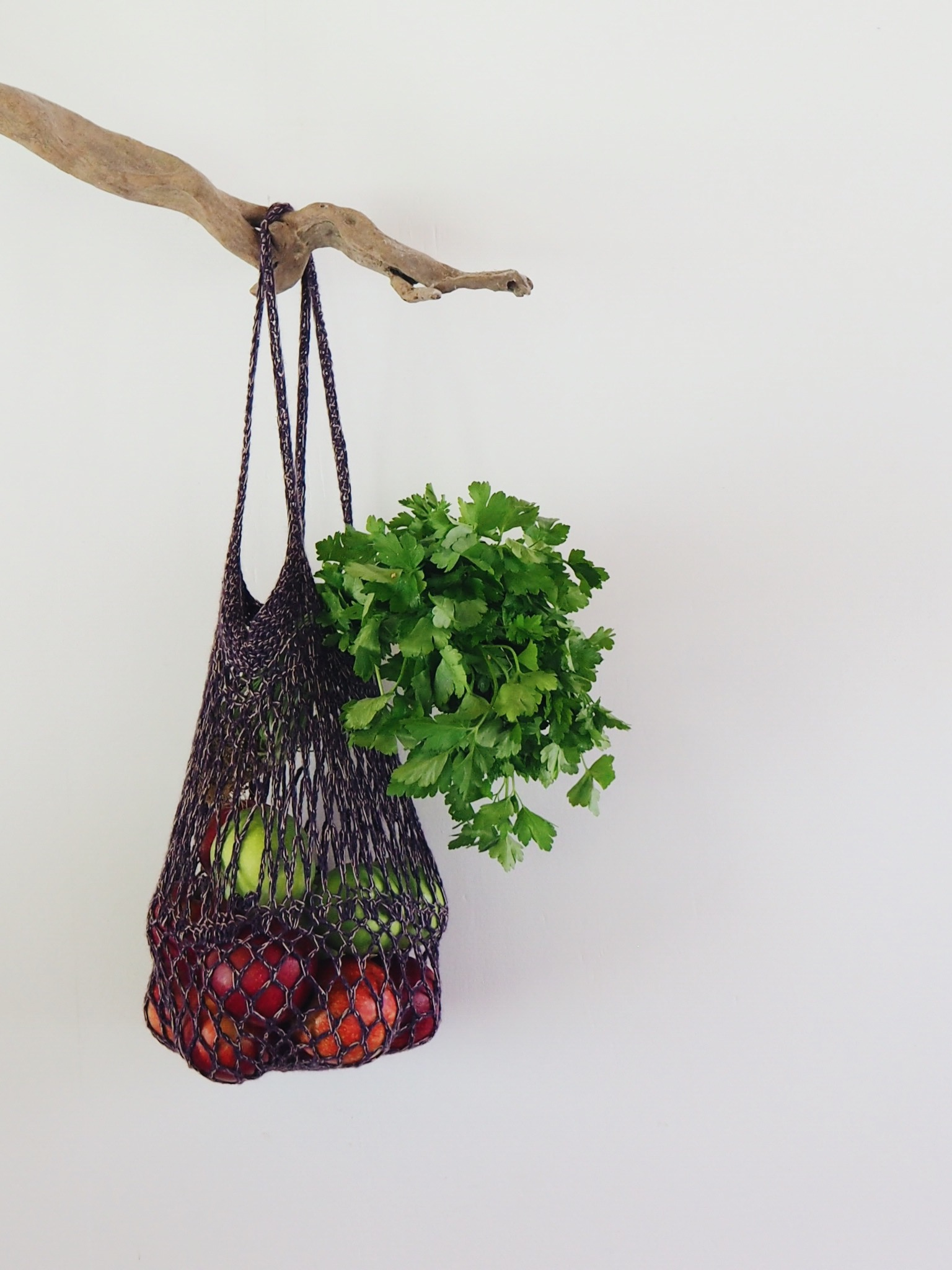 Crochet String Bag make your own - pattern by Ellie Beck Petalplum