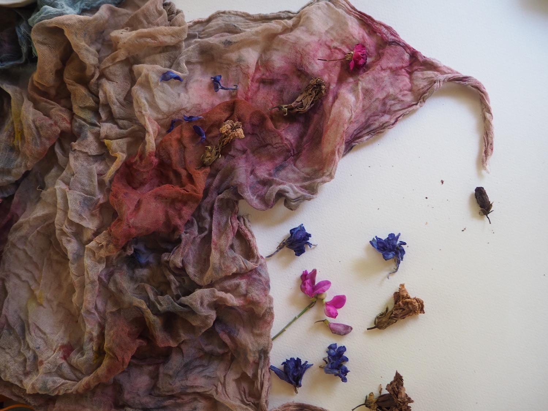 Ellie Beck Petalplum - Naturally Dyed muslin fabric in pinks and purples.jpeg