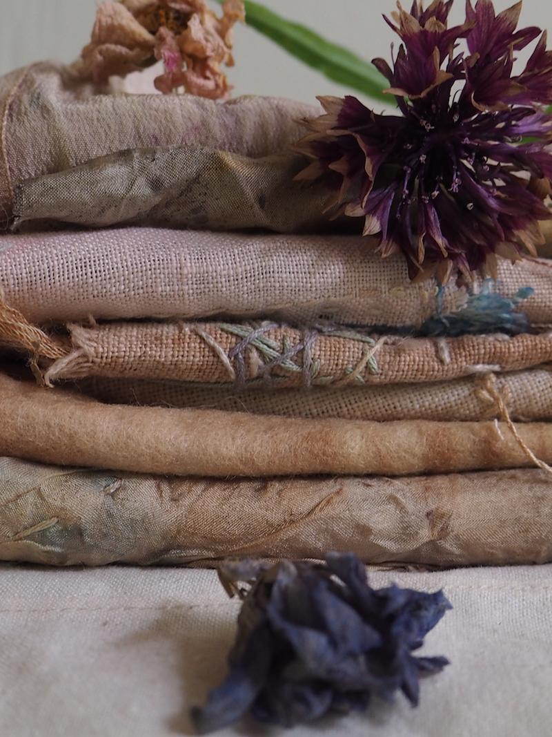 Ellie Beck - Botanically dyed fabrics pinks with flowers.jpeg