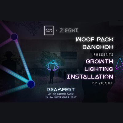 BEAMFEST    Woof Pack presents GROWTH Lighting Installation by Zieght Project    on November 24th - 26th, 2017    at 72 Courtyard