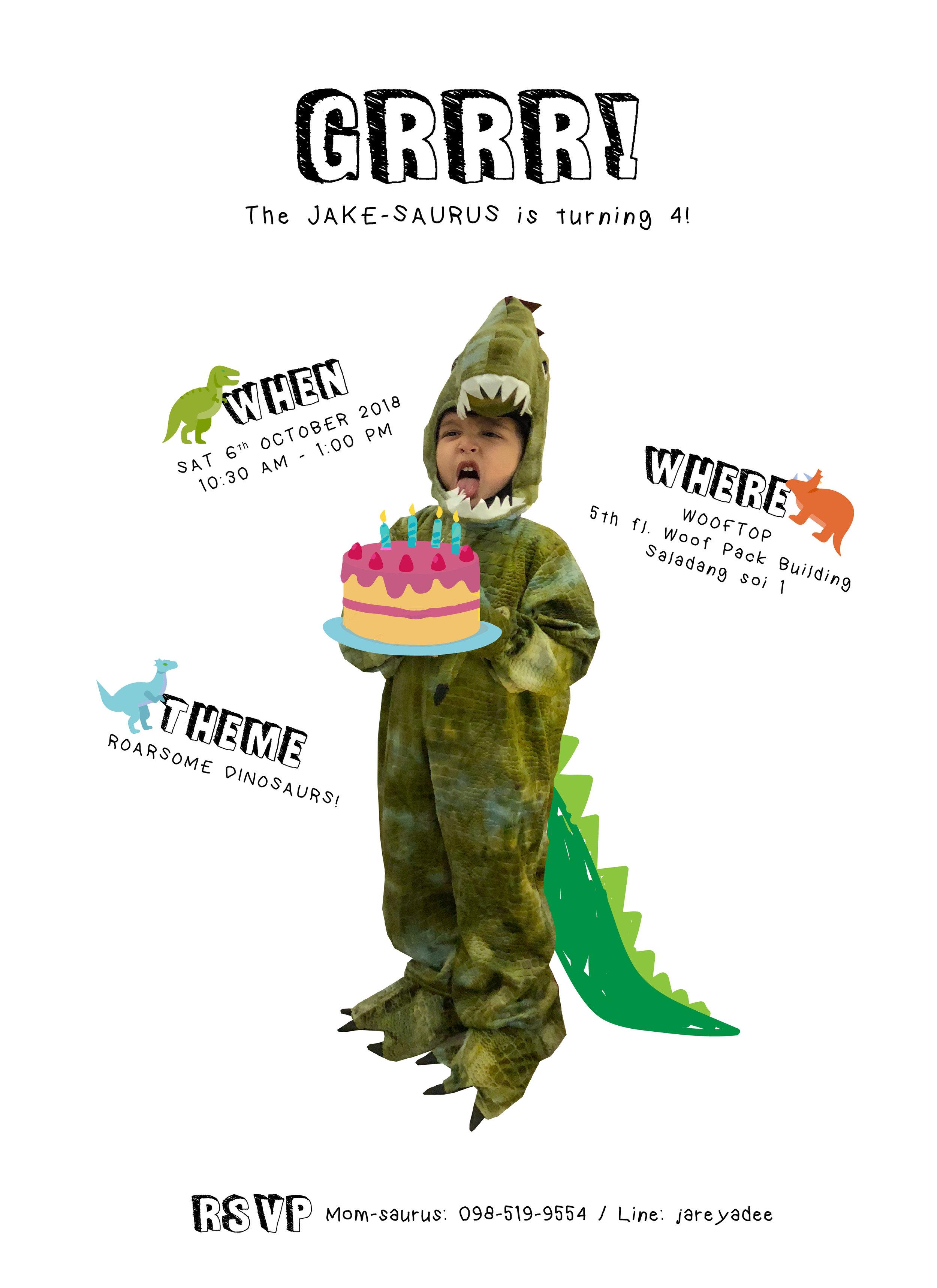 The JAKE-SAURUS is turning 4!