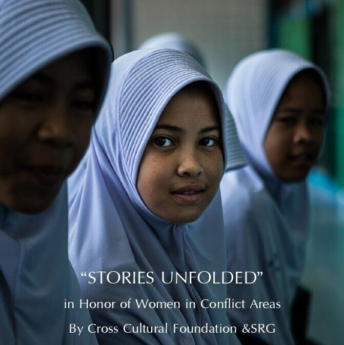 """""""Stories Unfolded"""" in Honor of Women in Conflict Areas    BY CROSS CULTURAL FOUNDATION & SRG    """"Stories Unfolded"""" is a photographic project by Canadian photographer SRG in collaboration with the Cross Cultural Foundation (CrCF) based on the lives and testimonies of women from the Deep South of Thailand.    CrCF is a non-profit local organization based in Bangkok and has been continuously providing legal assistance and support to the victims of the ongoing conflict for the past 13 years.    """"Stories Unfolded"""" seeks to give a platform for these women's voices, so that they may be heard."""
