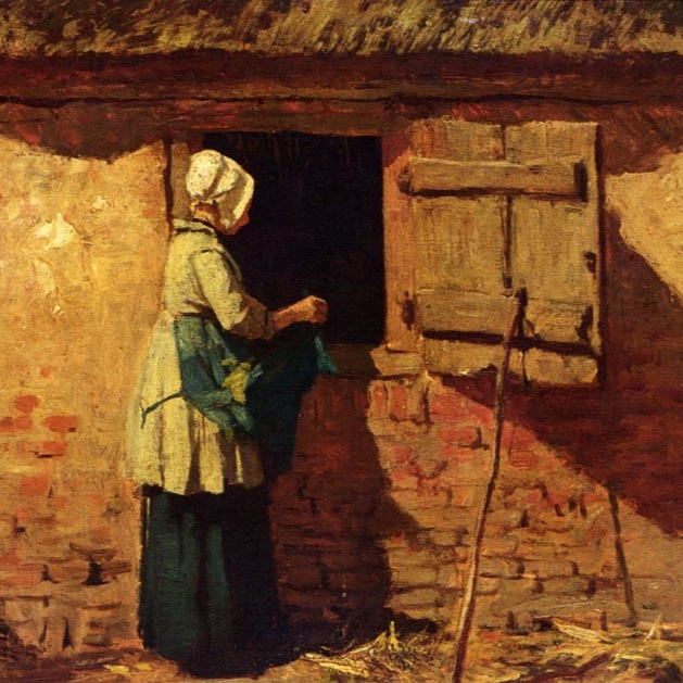 Image:     A Peasant Woman by a Barn by Anton Mauve