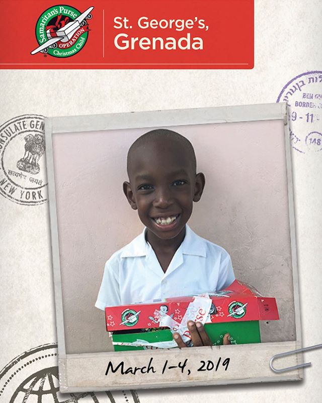 Today begins the journey to Grenada 🇬🇩 on an OCC Vision Trip to partner with local churches in the distribution of shoeboxes and the teaching of the gospel using The Greatest Journey. After packing boxes for years, this is such a blessing!! I will do my best to capture moments and share them as we go. Please pray for the kids, the team and for our travels. 😊 #operationchristmaschild #amazinggrace #jesuslovesyou