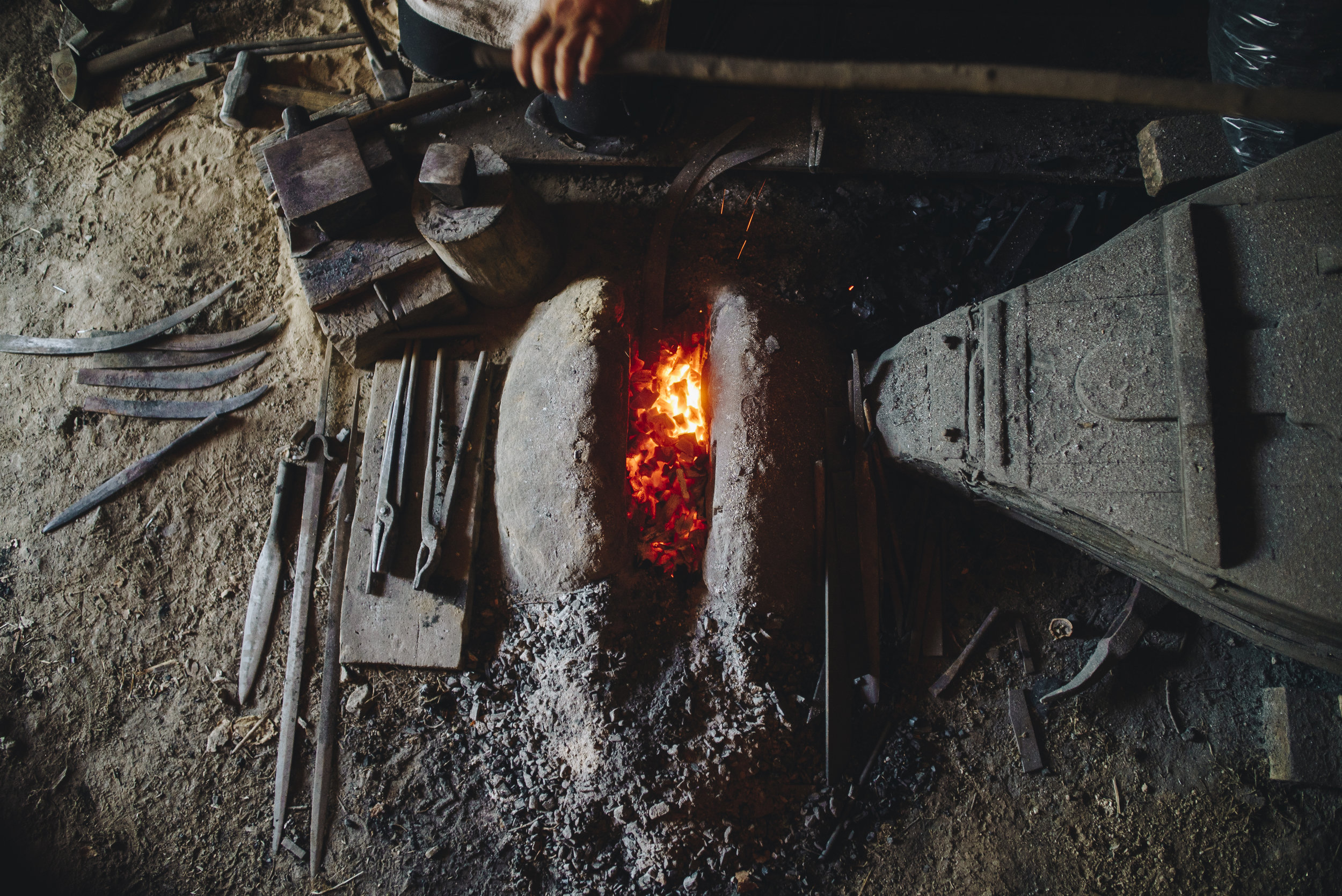 The mysticism of blacksmithing in Craiva Veche -