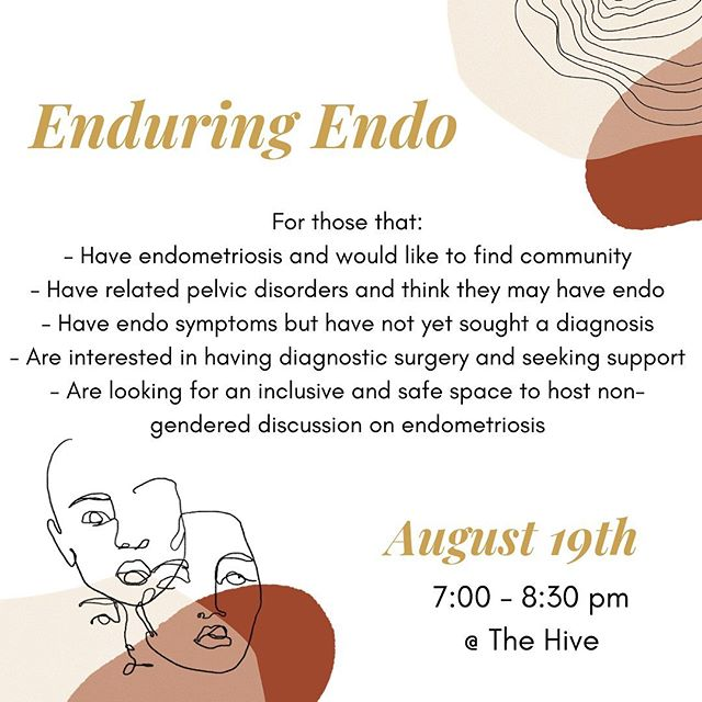 DONT FORGET TO RSVP ✨  Tomorrow night — we invite those struggling with Endometriosis and other related pelvic disorders to take up space with us. Enjoy vegan pastries from our lovers at @darkhallcoffee and make connections at The Hive. Who will be there? #endometriosis #endometriosissymptoms #endometriosiswarrior #endometriosisawareness