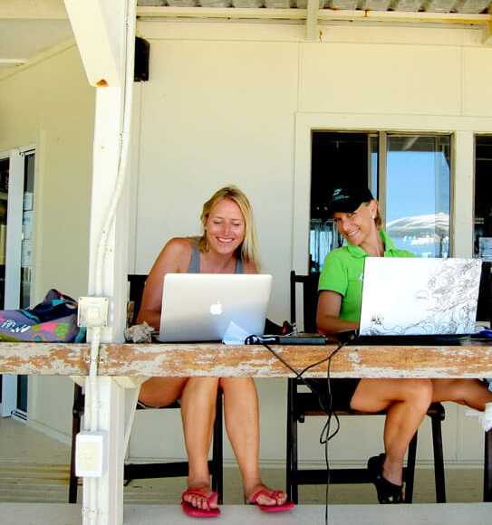 Working with the marketing team on Lady Elliot Island