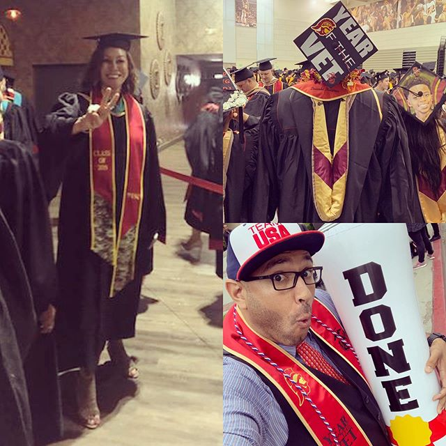 Congrats to our DAV California members Mirtha Villarreal-Younger and Robert Graves (our Convention Chair, and Director of Operations) for crossing the stage after all their hard work University of Southern California!  DAV hashtags . . . 🔊Join our family! ❤️The #DAV only gets stronger 💪🏽 once you decide to become a member today. Join and find a way that you feel best to help protect the rights and benefits of our own. 🚎 Volunteer Drivers... 📝Legislation... there's many ways to pay it forward—but we can't do it without you🕺🏽 . . . 🇺🇸 Click the link in our bio @DAVCalifornia to find out how!🦅👌🏽 . . . #CaliforniaDAV #Disabled #American #Veterans #DisabledVeterans #Veteran #vets #Military #USMCVeteran #MarineCorpsVet #NavyVet #ArmyVet #AirForceVet #ArmyVeteran #NavyVeteran #AirforceVeteran #MarineCorpsVeteran #USMC #Marine #Army #Navy #Airforce #CoastGuard #NationalGuard #FightOn #DAVStrong #USC #Trojans